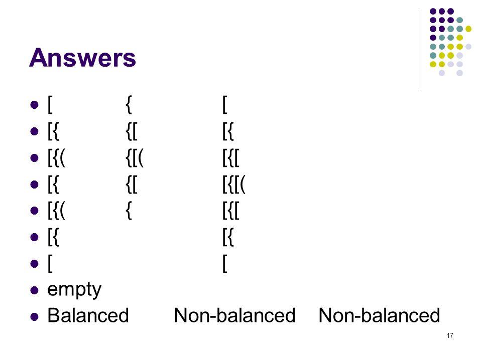 Answers [ { [ [{ {[ [{ [{( {[( [{[ [{ {[ [{[( [{( { [{[ [{ [{ [ [